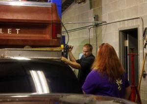 lifting a truck